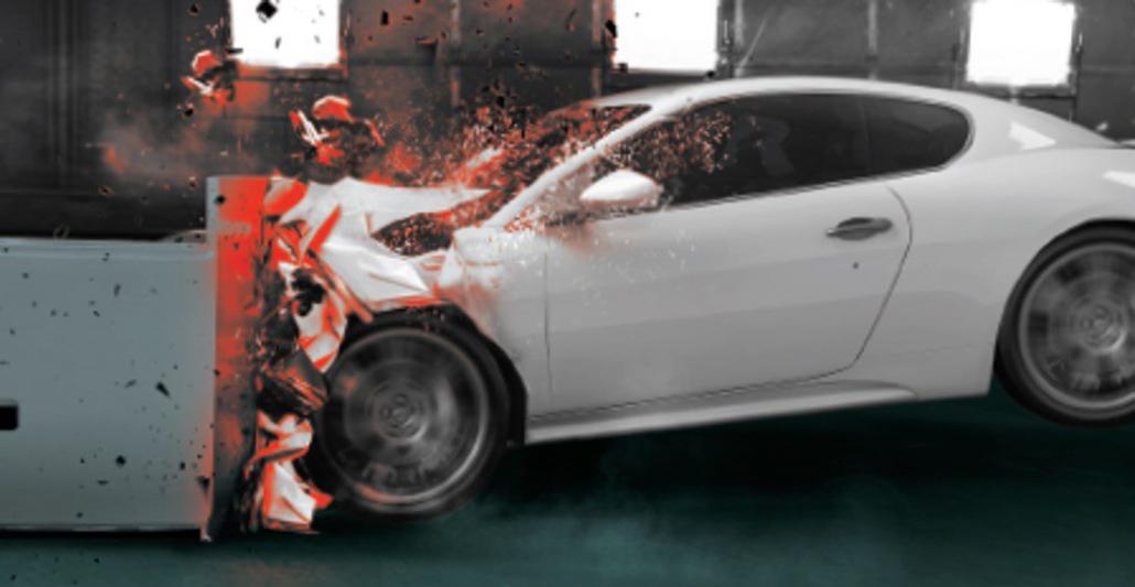 Test crash automobile