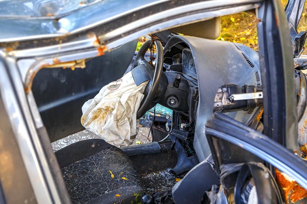 Crash test sur auto