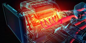 Moteur voiture -haute température